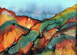 Alcohol Ink Painting - Approaching Storm by Christine Crawford