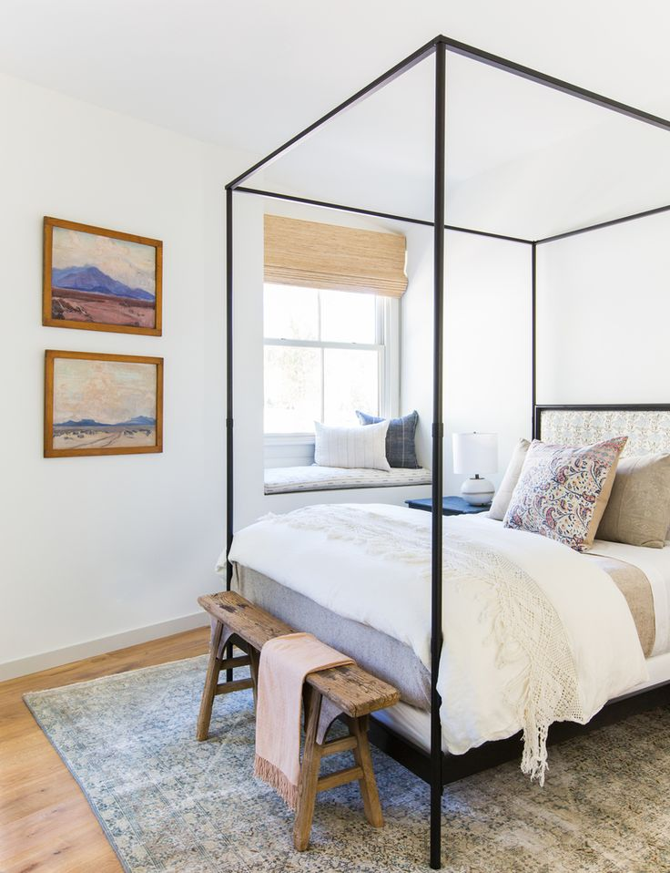 bright bedroom window seat // Client Oh Hi Ojai – Amber Interiors