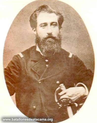Sargento Mayor Manuel Rodríguez. Ingreso al ejército en 1868 como ayudante del Comandante de la Segunda División, durante las Batallas de Chorrillos y Miraflores.