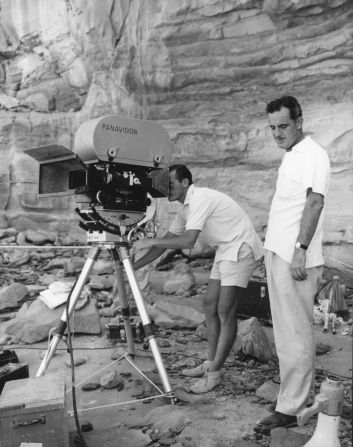 """2nd unit at work on location for """"A Passage to India"""" (1984)."""