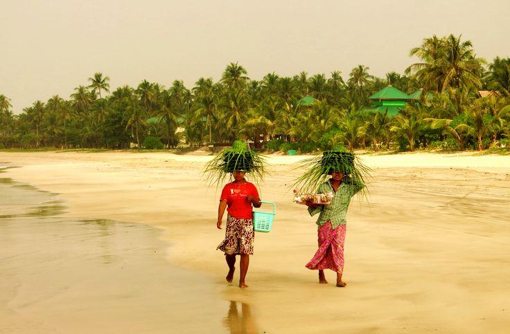 Strand von Ngwe Saung in der nähe von Pathein