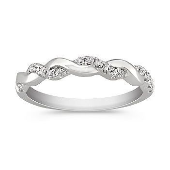 Twist Diamond Ring with Pave Setting. Simple if it is all we can afford. I really like this design...