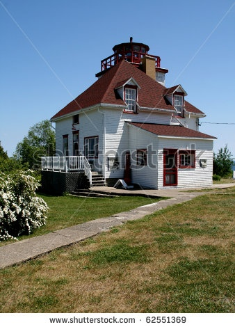Image detail for -Historic Lighthouse At Cabot Head In Tobermory Ontario Stock Photo ...