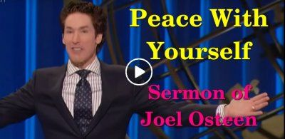 Joel Osteen Peace With Yourself Joel Osteen Sermons Pinterest