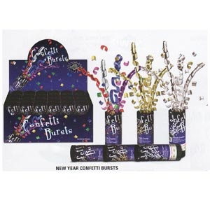 New Year Confetti Bursts (3 Colour Options).     New Year Confetti Bursts (3 Colour Options)