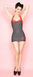 Love the pinup style & the anchor bathing suit.  BTW I so want to do a PinUp photoshoot someday