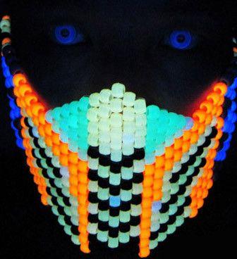 Glow In The Dark Mortal Kombat Cyrax Kandi Mask