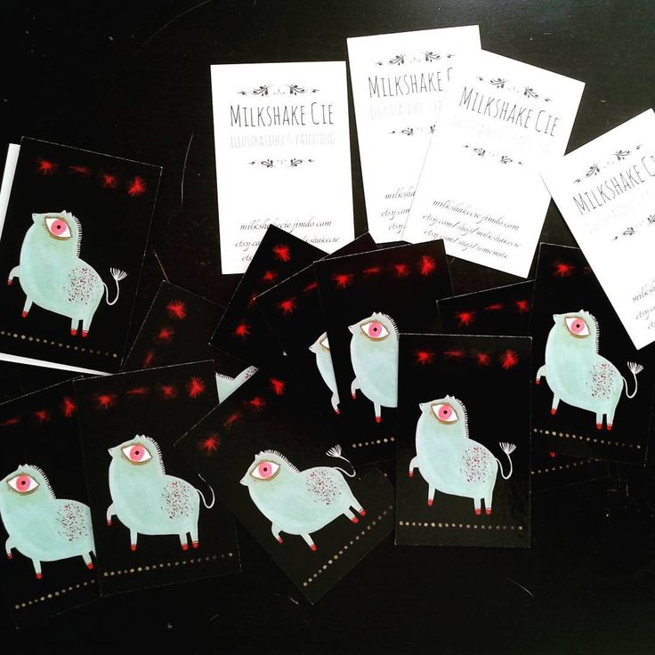 "14 mentions J'aime, 1 commentaires - Julie Dru (@milkshake.cie) sur Instagram: ""My new Visit Cards! Milkshake Cie"""