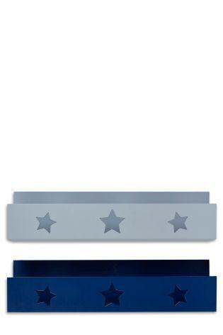 Blue/Grey Set Of 2 Any Way Shelves