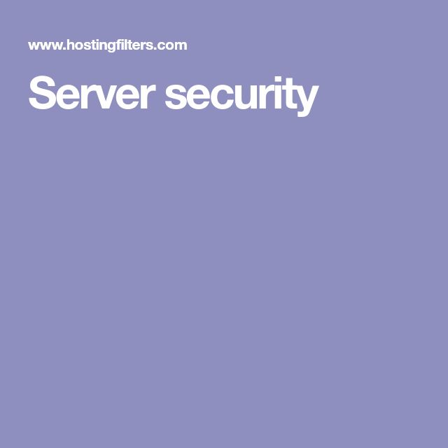 Server security
