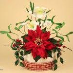 Un bouquet di fiori di Natale in pasta di zucchero!