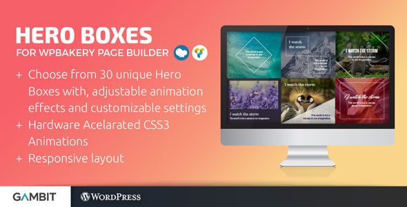 Hero Boxes For Wpbakery Page Builder Formerly Visual Composer Wordpress Plugins Visual Hero
