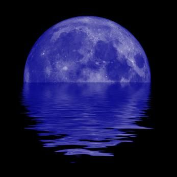 """As the third full moon in a rare season with four, this one fits the original definition for a """"Blue Moon."""""""