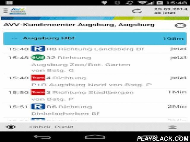AVV.mobil  Android App - playslack.com ,  AVV.mobil ist die Fahrplanauskunft des Augsburger Verkehrsverbundes für Ihr Smartphone. Mit AVV.mobil können Sie die Abfahrtszeiten, Haltepunkte und Verbindungen aller öffentlichen Verkehrsmittel im Verbundgebiet des Augsburger Verkehrs- und Tarifverbunds abfragen. Neu mit dieser Version ist der integrierte Ticketshop, in dem Einzelfahrausweise, Streifen- und Tageskarten für das AVV-Verbundgebiet als Online-Ticket zur Verfügung stehen.AVV.mobil im…
