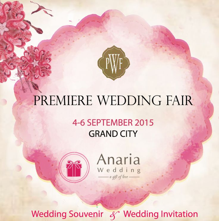 You are cordially invited to Anaria Wedding Fair at Grand City Plaza 4th - 7th September 2015. ^^ Get your best deal with us