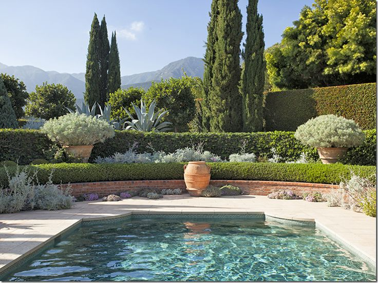 25 best ideas about landscaping around pool on pinterest for Gardens around pools
