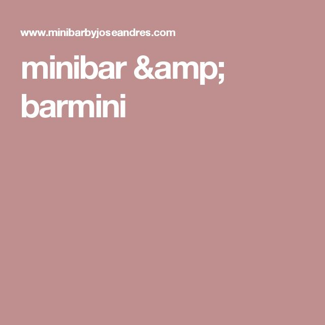minibar & barmini