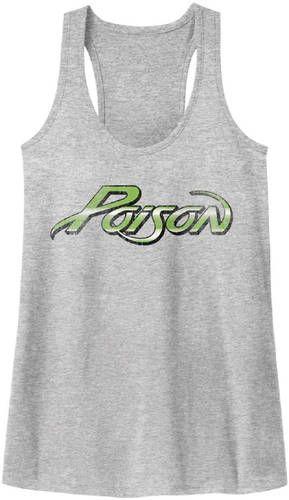 Poison Rock Band Tank Top T-shirt - Poison Logo. Women's Gray Vintage Shirt