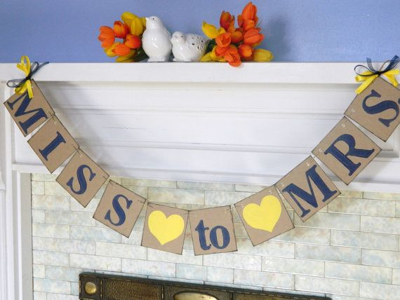 Shabby Chic/ Bridal Shower Decor/ MISS to by anyoccasionbanners, $21.00