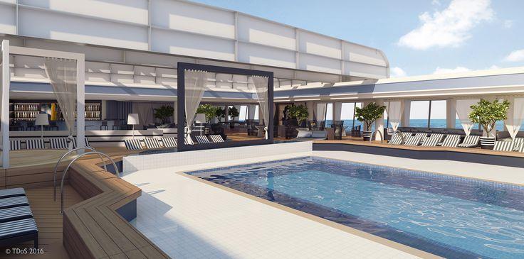 TDoS Design for P&O Australia, Pacific Aria & Eden - Pool area