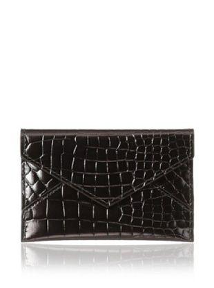 67% OFF AEON Women's Mini Envelope, Chocolate Metallic Croc