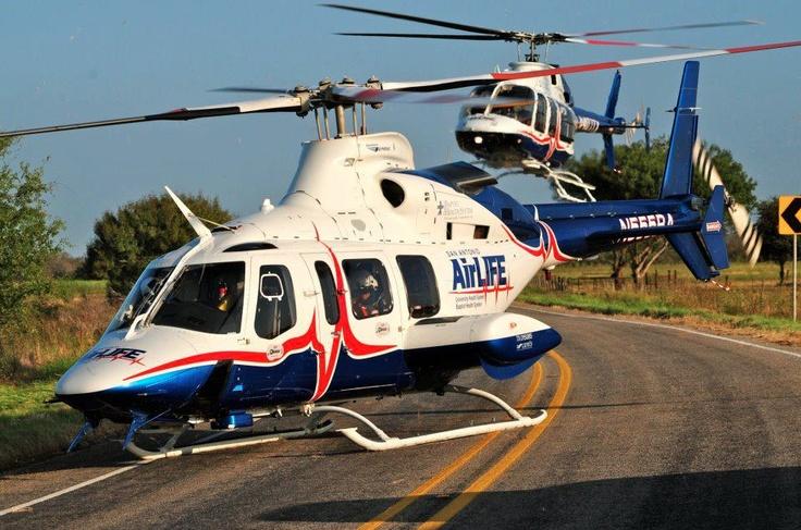 San Antonio Air Life Bell 430 and 407 by Xavier J Garcia