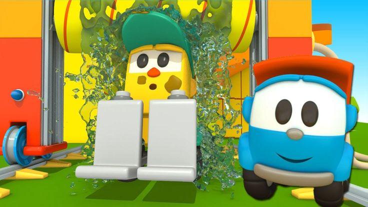 Leo il camion curioso e l'autolavaggio! - Cartoni animati per bambini