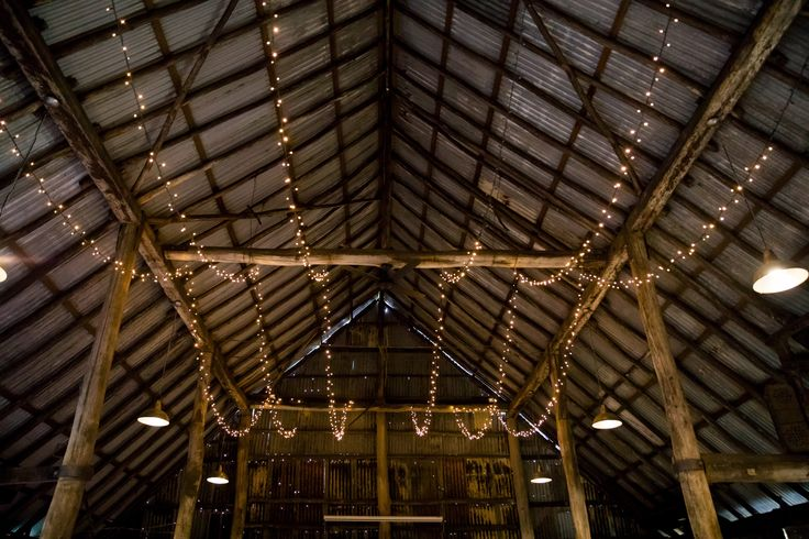 Fairy Lights setting the mood in the Historic Barn | photography by Briony Hardinge