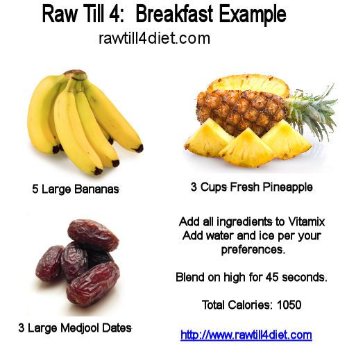 The Raw Till 4 Diet Plan Consists Of High Carb Low Fat Protein Meal Plans Its Really Quite Flexible But Here Youll Find Some