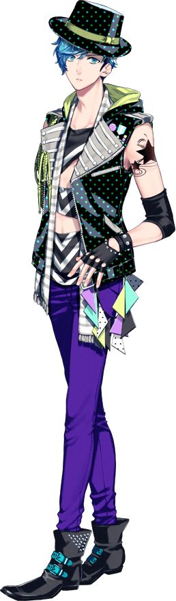 Kento Aizome (THRIVE)~ He's the snazzy one with all the charisma and never fails to charm the ladies! (He also appears to have big feet but no one seems to care.)