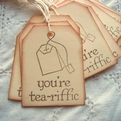cute cute cute...would be cute inside an invitation for tea also
