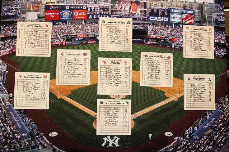 Table Seating For 20: Baseball Themed Table Seating Chart