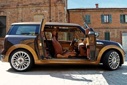 Brown mini cooper clubman!