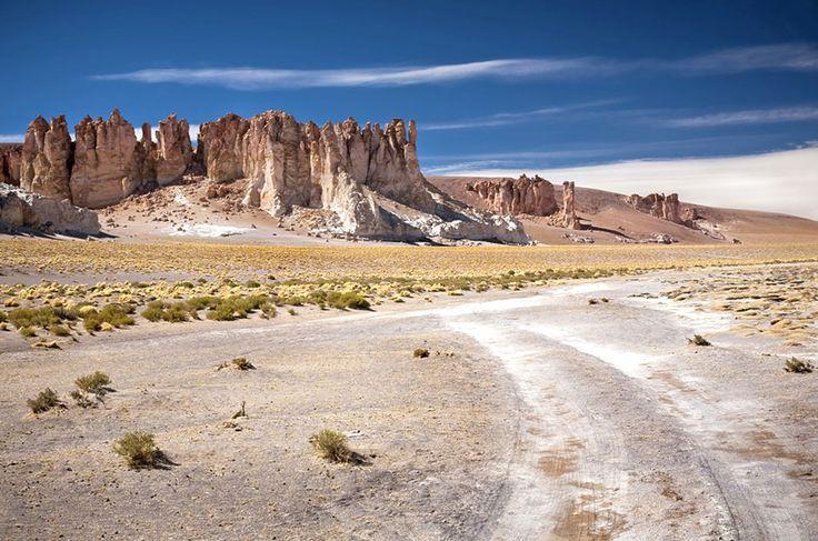 Salar do Tara, no deserto de San Pedro de Atacama, norte do Chile