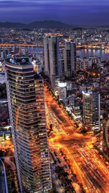 10 Stunning Images of Famous Cities Around The World (Part 1) , View over Seoul, South Korea
