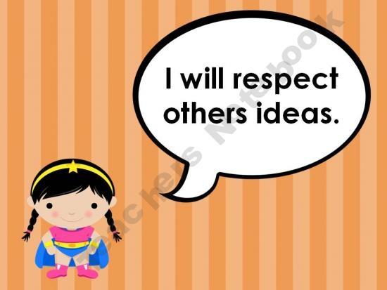 Superhero classroom rules posters Teaching-outside-the-line Shop - | Teachers Notebook