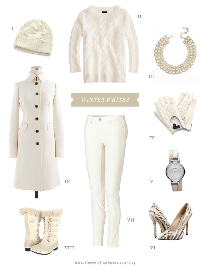 "Winter white outfit idea for my ""just-finished""  white brocade coat!"