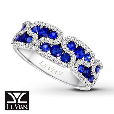 Levian Sapphire Buckle Ring