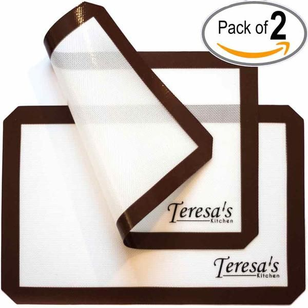 Teresa's Kitchen – Silicone Baking Mat - Nonstick – Baking Sheet for Oven or Toaster Oven – Cookie Sheets - Set of 2