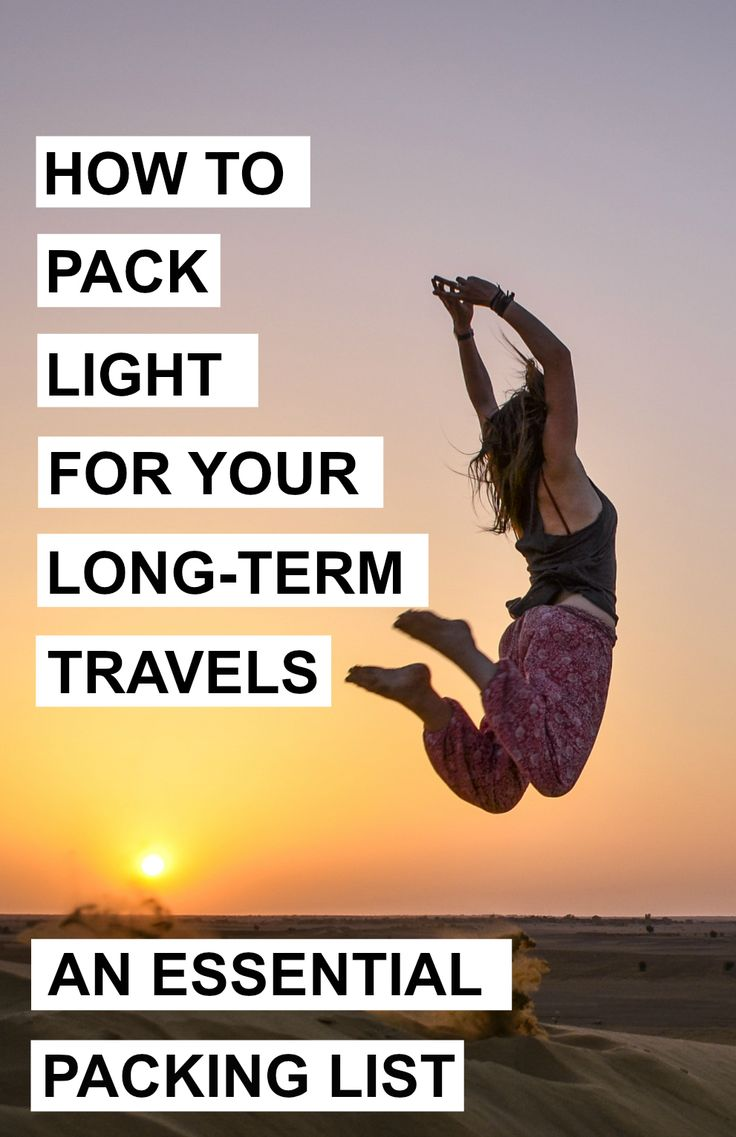 The Ultimate And Essential Packing List For Your Longterm Travels  A  World…