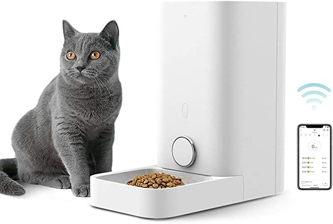 Amazon Com Petkit Automatic Cat Feeder Wi Fi Enabled Smart Feed Pet Feeder For Cat And Small Dog Smartphone App In 2020 Pet Feeder Automatic Cat Feeder Cat Feeder