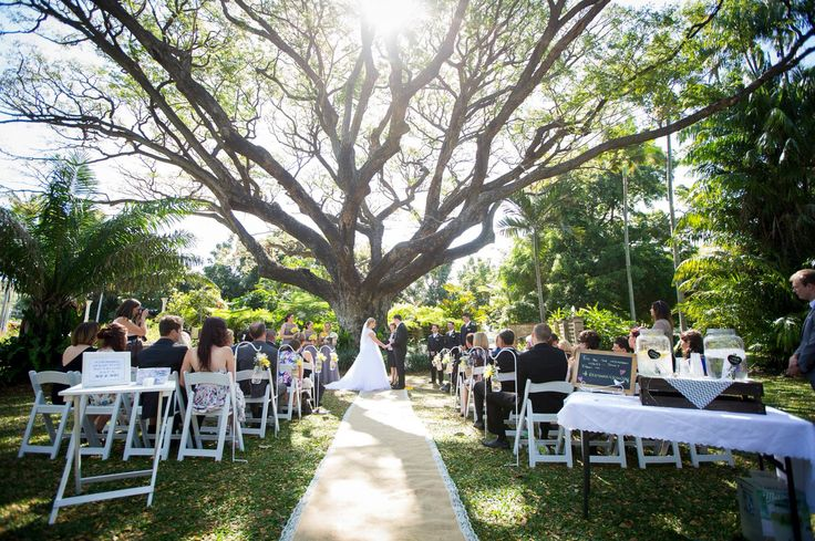 Our favourite garden ceremony location - the Raintree Lawn in Queens Gardens, Townsville