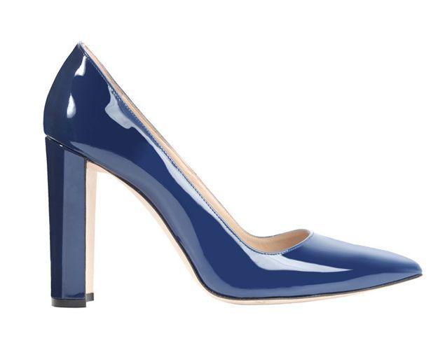 Manolo Blahnik Blue Christmas Shoes