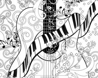36 best Adult Coloring Music images on Pinterest Coloring