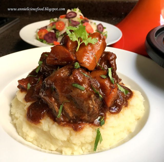 Red Wine Oxtail Stew / Oxtail Bourguignon (紅酒燴牛尾) | Annielicious Food