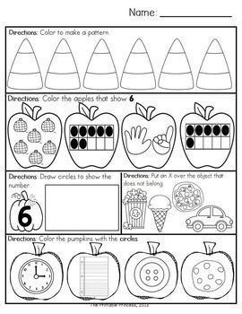 October morning work for Kindergarten. 20 read and 20 math activities. Repetitive directions so little ones become independent workers... and you can focus on morning duties!