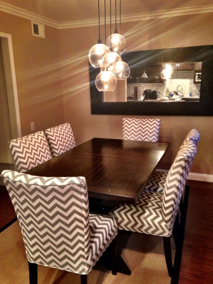 Chevron Dinning Room Chairs ❤️