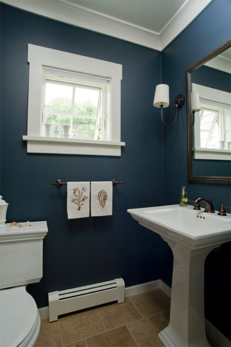 23 best ideas about taste bathrooms on pinterest for Bathroom ideas navy blue