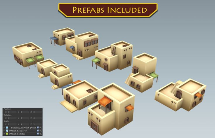 Modular Desert Buildings - Asset Store