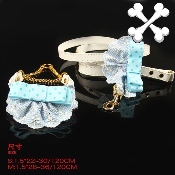 Собака Синий плед галстук воротник поводок костюм собаки ошейники поводки набор Ювелирных щенок собачка ожерелье товары для животных 5 шт./лот